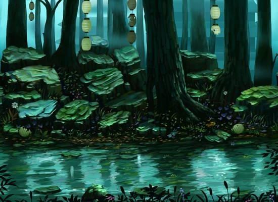 梦幻仙境手绘图