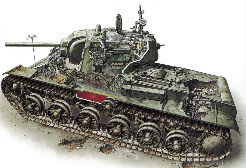 虎式坦克内部结构图 二战苏联坦克外形肢解